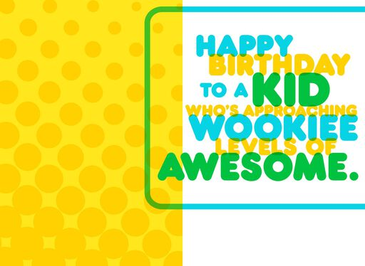 Great Hair Wookiee™ Birthday Card,