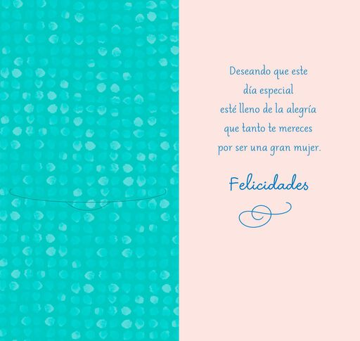 Filled With Happiness Spanish-Language Mother's Day Card,