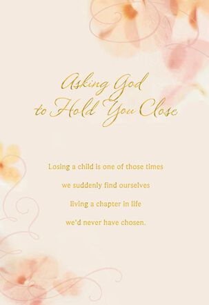 Flower Petals Religious Sympathy Card for Loss of Child