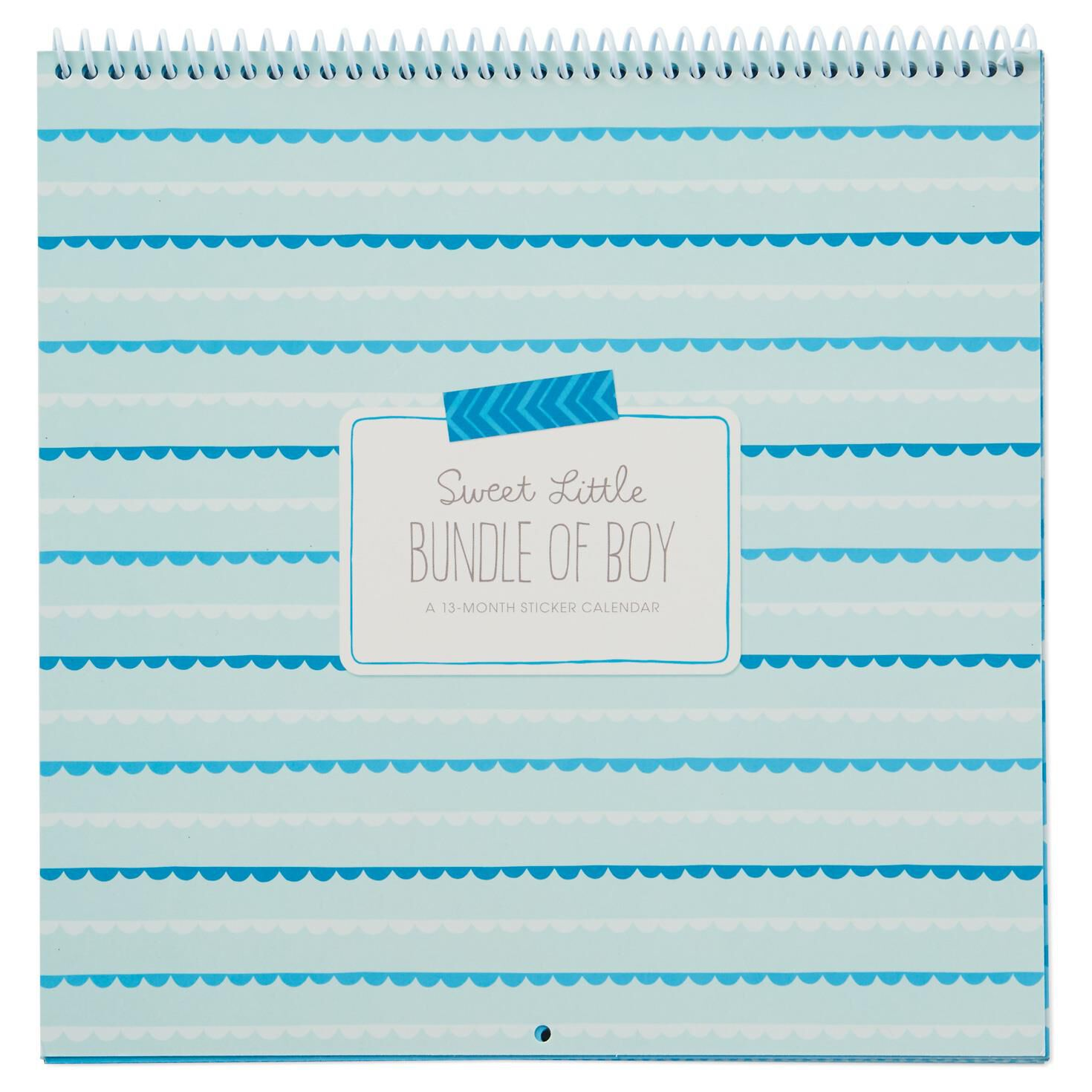 Kids Calendar With Activity Stickers : Baby boy sticker and photo month calendar calendars hallmark