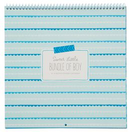 Baby Boy Sticker and Photo 13-Month Calendar, , large