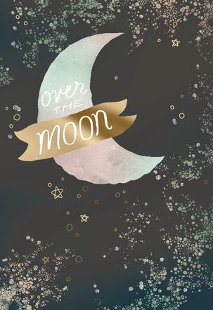 Over the Moon Love Card