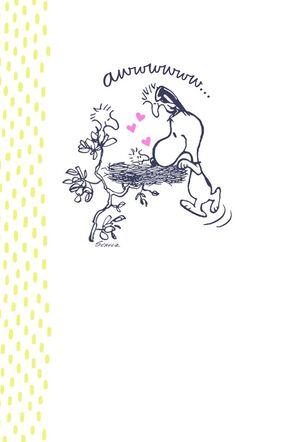 Peanuts® Snoopy Bird's Nest New Baby Card