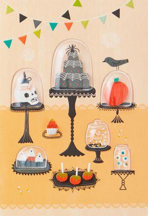 Spooky Dessert Table Halloween Card