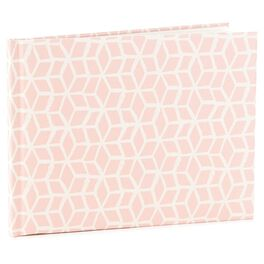 Pink Geometric Guest Book, , large