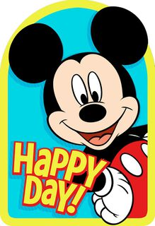 Mickey Mouse Best Day Ever Birthday Card,
