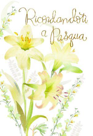 Wonder and Joy Italian-Language Easter Card