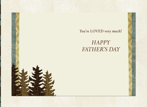 Pine Trees Father's Day Card for Grandpa,