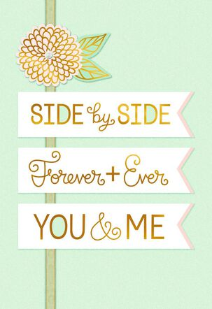 Side-by-Side Wedding Card for Spouse