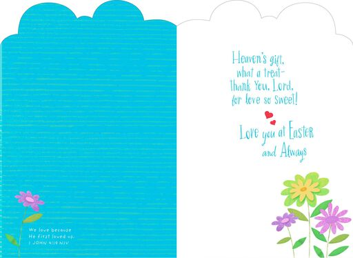 Joy and happiness romantic easter card greeting cards hallmark love so sweet romantic religious easter card negle Choice Image