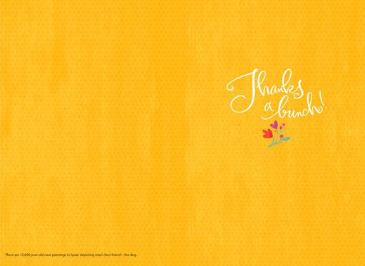 Dog With Flowers Thank You Card,