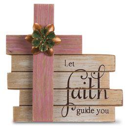 Let Faith Guide You Cross Plaque, , large