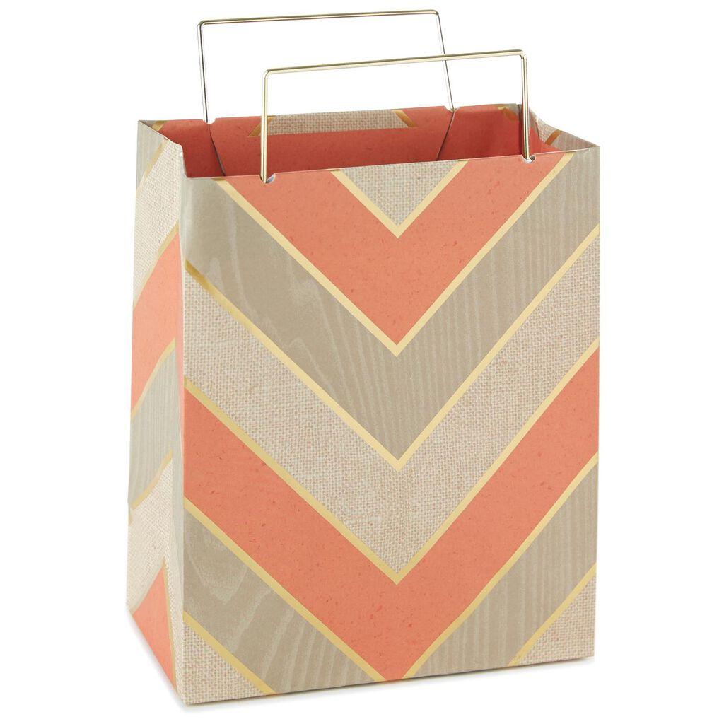 Chevron Small Gift Bag With Metal Handle 7