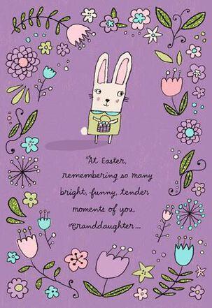 Celebrating You Granddaughter Easter Card