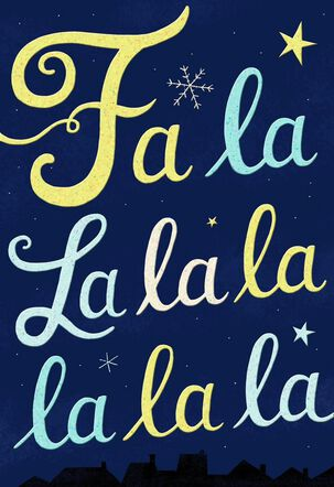 Fa La La Funny Christmas Card