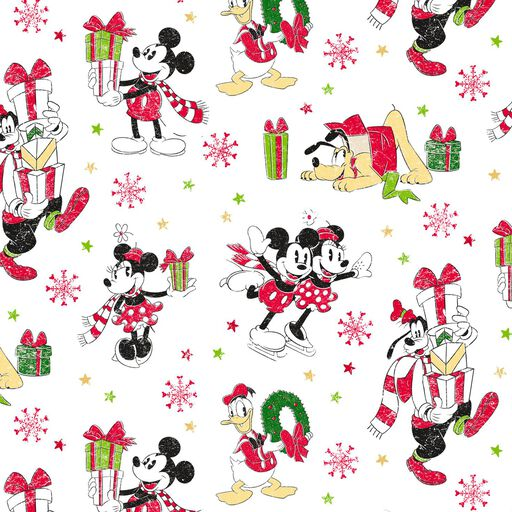 Disney Mickey Mouse and Friends Jumbo Christmas Wrapping Paper Roll, 80 sq. ft.