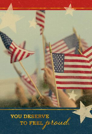 Waving Flags Military Congratulations Card