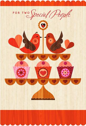 Lovebirds Happy Couple Valentine's Day Card