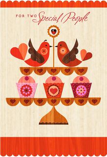 Lovebirds Happy Couple Valentine's Day Card,