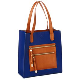 Mark & Hall Navy Colorblock Tote, , large