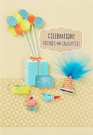 Celebrate Friends and Laughter Birthday Card