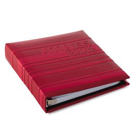 Sporty Red on Red Stripes Address Book, , large