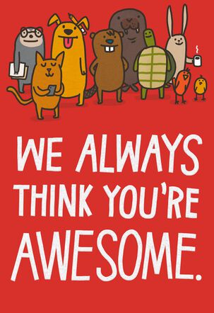 Written Proof You're Awesome Funny Boss's Day Card From Us