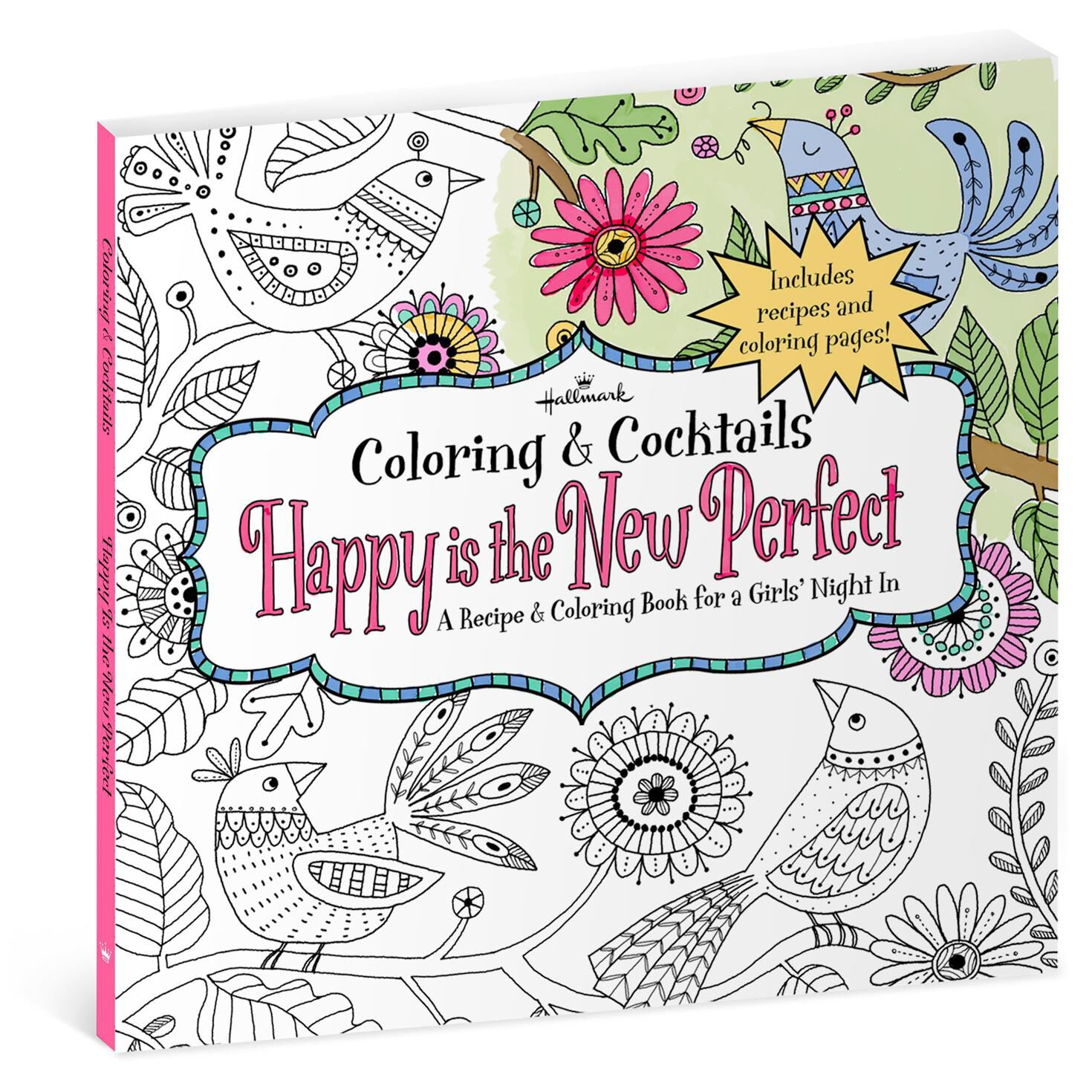 happy is the new perfect recipe coloring book for girls night