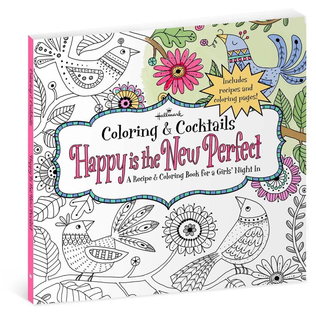 Happy Is The New Perfect Recipe Coloring Book For Girls