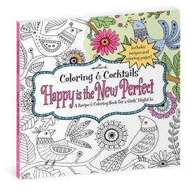 Happy Is the New Perfect: Recipe & Coloring Book for Girls' Night, , large
