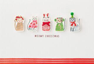 Meowy Christmas Card,