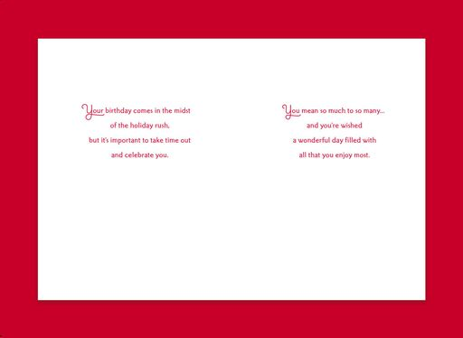 Candles Celebrating You December 25th Birthday Christmas Card,