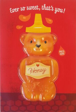 Sweet as Honey Musical Valentine's Day Card