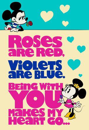 Mickey and Minnie Woo Hoo Anniversary Card