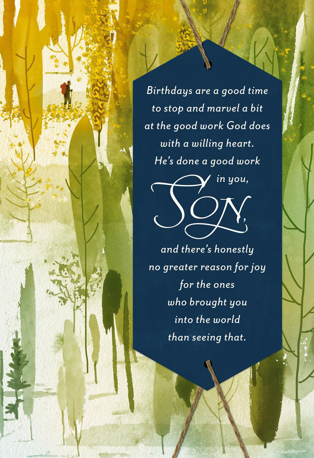 Hes Done Good Work In You Religious Birthday Card For Son