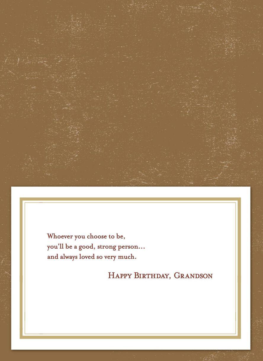 Illustrated Bridge Scene Birthday Card For Grandson Greeting Cards