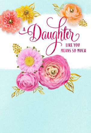 Daughter So Proud of You Floral Mother's Day Card