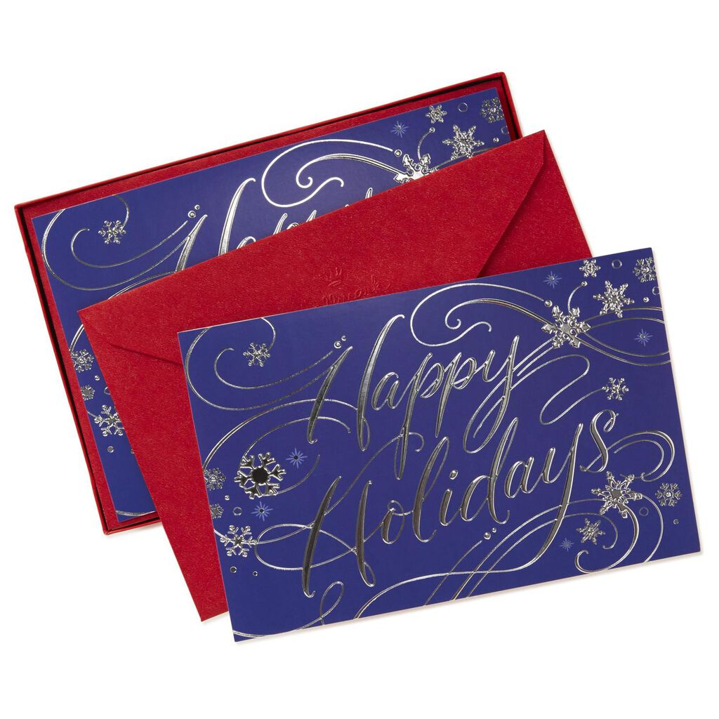 Holiday Wishes Christmas Cards Box Of 40 Boxed Cards Hallmark