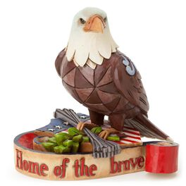 Jim Shore Mini Patriotic Eagle Figurine, , large
