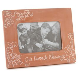 Our Favorite Blessings Terra-cotta Picture Frame, 4x6, , large