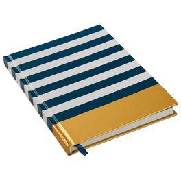Navy Stripe Foil Journal, , large