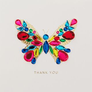 Beautiful Butterfly Thank You Card,