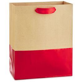 """Dipped Red Medium Gift Bag, 9.5"""", , large"""