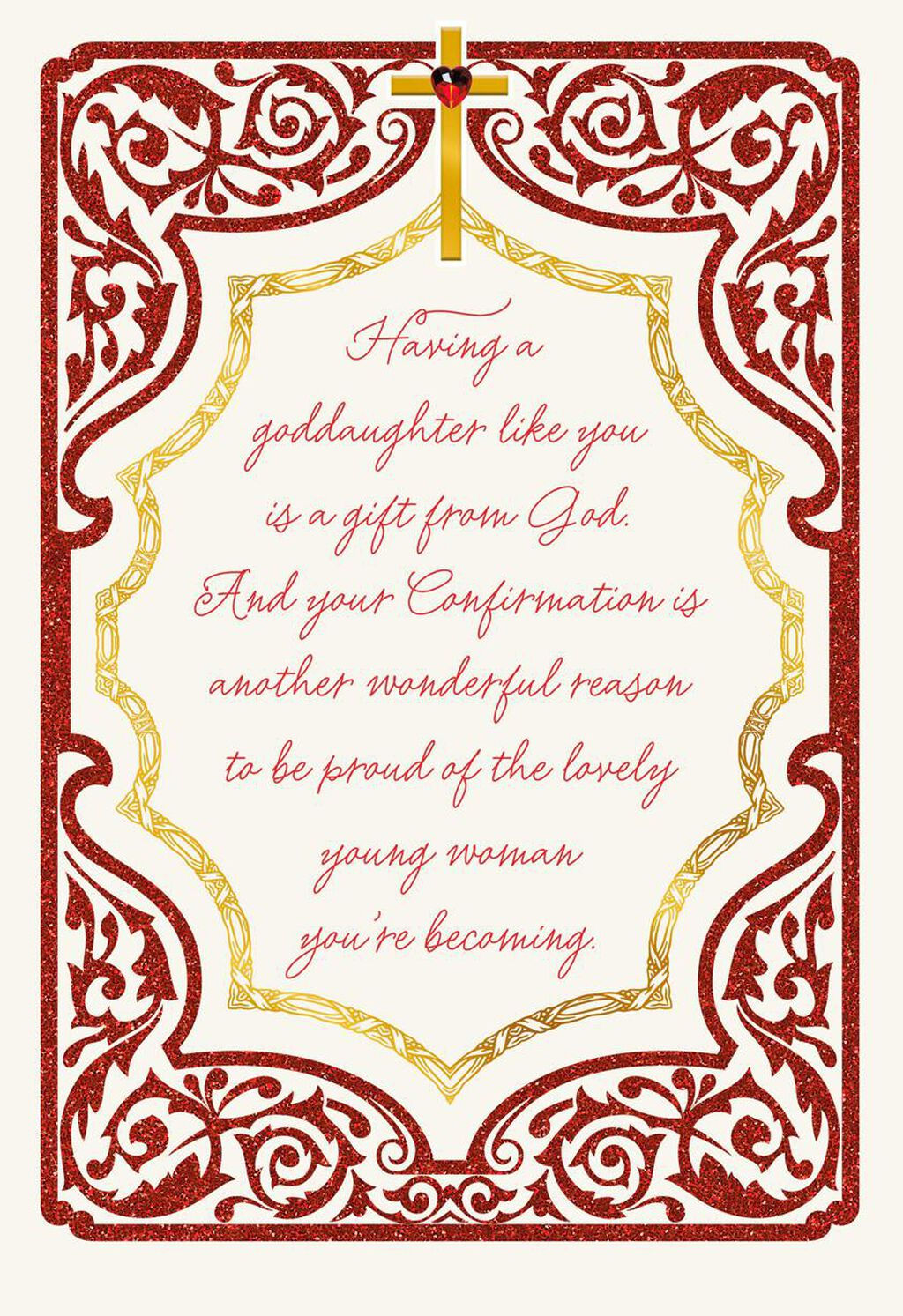 With Love And Prayers Religious Confirmation Card For Goddaughter