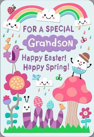 Cooler Than Centipedes Grandson Easter Card
