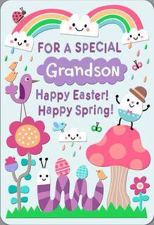 Cooler Than Centipedes Grandson Easter Card,