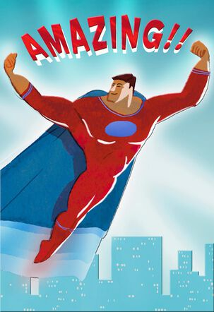 UNICEF Amazing Super Hero Father's Day Card