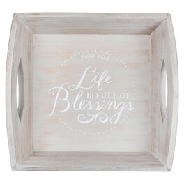DaySpring Full of Blessings Wood Tray, 10.5x4.75, , large