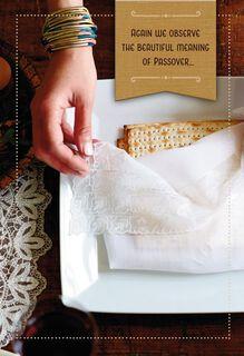 Matzo Plate Passover Card,