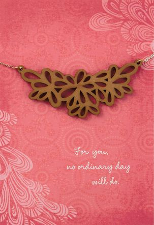 Beautiful Day Birthday Card With Necklace